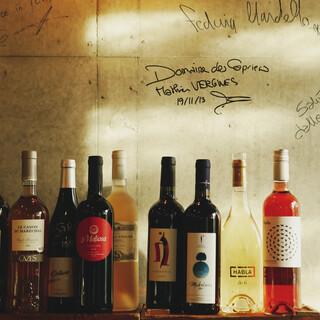 自然派ワインを豊富にご用意しています!