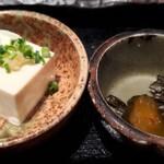 居酒屋 たなか畜産 - 小鉢と漬物