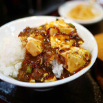 126451497 - 麻婆豆腐オンザライス