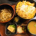 栄茶屋 - かつ丼そば付き(1,580円)
