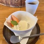 食事珈房 はしら - 玄米御膳(\1,100) アイス