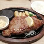 ステーキのあさくま - サーロイン200g¥2,940+税と、山わさび¥120+税
