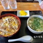 鶴や本家 - 料理写真:カツ丼のミニうどん付き