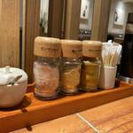 ISOGAMI FRY BAR - 天丼につけるソースとソルト