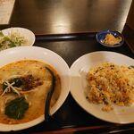 Yoka - 刀削担々麺+炒飯セット 780円