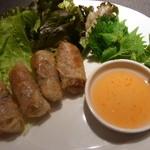 タイ ベトナム料理 GreeN - 干しえびと豚の揚げ春巻き