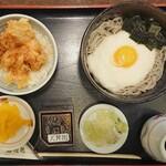 ごまそば遊鶴 - 期間限定日替りサービスとろろそば+ミニ鶏天丼 ¥819+税