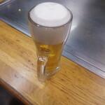 広島風お好み焼 大福 - 生ビール600円