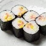 餃子のネオ大衆酒場 ニューカムラ - とろたくマヨ細巻き寿司290円