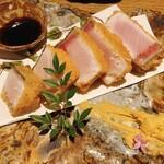 炭焼笑店 陽 - ブリのレアカツ〜辛子酢醤油〜 ¥980