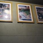 ザ ホワイト フォックス - 浮世絵風のがある店内