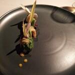 126496387 - 鹿肉パテと山菜のサラダ。シャルキュトルは まだまだって感じかな。