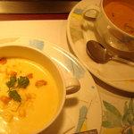 1265344 - 追加のコーンスープ+海老のビスク