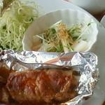 Cafe ぱ・どぅ・しゃ - 豚肉のクリームチーズ巻き
