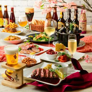 歓送迎会に!ベルギー伝統料理を堪能できるコース!