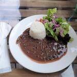 Mojito Terrace Lounge AHINAMA - アロス・コン・フリホーレス(黒インゲン豆のシチュー)上空から