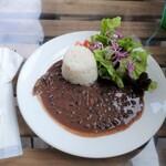 Mojito Terrace Lounge AHINAMA - アロス・コン・フリホーレス(黒インゲン豆のシチュー)全景