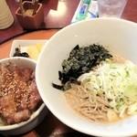 12651169 - ゴマつゆの蕎麦とソースカツ丼のセット¥1050
