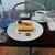 サロン・ド・テ・ロンド - 洋梨とキャラメルのムース と 紅茶
