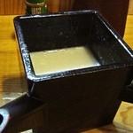 KATSURA - トロトロそば湯 です。