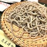 志美津や - 島根県三瓶産 小そばせいろ、白海老天ぷら。