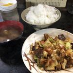 名阪上野ドライブイン おすみ - ホルモン定食♪ ご飯大‼︎