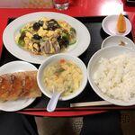 126569276 - 豚肉とキクラゲと玉子料理定食 税込780円