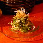 ずず - 鶏ササミと京水菜の梅しそ和え 520円