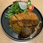 長崎トルコライス食堂 - スタンダードトルコライス+ハンバーグ