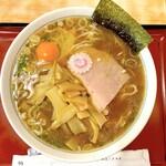 十二社 大勝軒 - メンマそば(890円)+生玉子(50円)