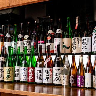 各地の地酒を常に30種以上ご用意!