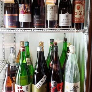 福岡の地酒や日本産ワイン等豊富なアルコールをご用意♪