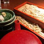 土風炉 - 江戸切りもり蕎麦<二段>847円 そばつゆ追加+50円