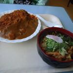 スーパーセンターアマノ フードコーナー - 「カツカレー」&「天ぷらそば」