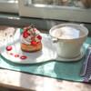 こまものや - 料理写真:イチゴチョコのタルト&カフェオレ☆