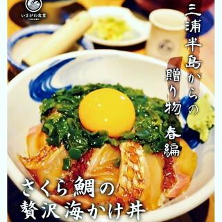 【三浦半島からの贈り物】春限定!さくら鯛の贅沢梅かけ丼