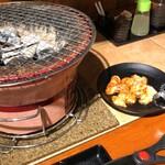 七輪焼肉 安安 - 七輪で焼くためおいしい