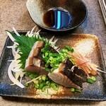 Kurashikishubougen - サワラ炙り刺し。780円