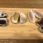 126618928 - 名代豆餅、福豆大福、ルビーチョコショコラ、チョコショコラ