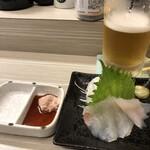 家庭料理 港鶴 - カワハギ刺身(肝付)