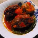 濱元 - ピーマン肉づめフレッシュトマト煮