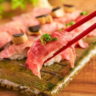 大好評!肉寿司食べ放題がお一人様なんと1,980円!