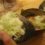 つけ麺屋 やすべえ - ネギ ¥100