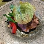 京都 喜Shin - 松坂豚のソテー。