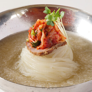 一食ずつ製麺する自家製の『生冷麺』
