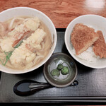 江戸屋 - ちくわうどん プチソースカツ丼セット