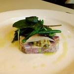 Restaurant27 - 前菜 イベリコ豚のテリーヌとインゲンのサラダ