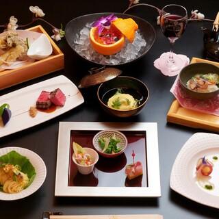 和食とフレンチをミックスしたフレンチ会席
