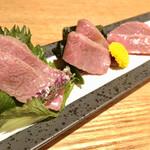 SO-TEN - 炙り肉刺し盛り合わせ
