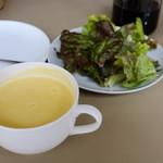 12668611 - ランチのスープとサラダ